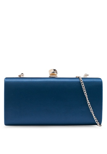 Forever New blue Mariella Satin Hardcase Clutch 0BED2ACC98C428GS_1