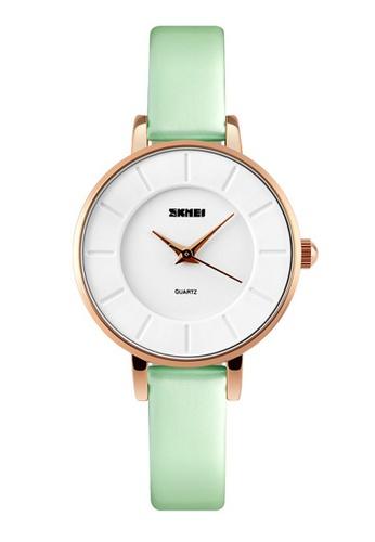 Skmei green SKMEI 1178 Ladies's Fashion Simple Elegant Quartz Leather Watch (Green) SK707AC0RXD5MY_1