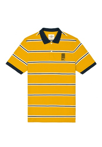 Kent and Curwen yellow Short Sleeves Pure Cotton Polo CC262AAA06D188GS_1