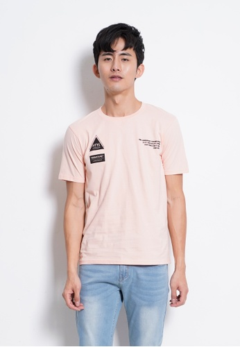Hi Style pink Graphic Short Sleeve T-Shirt AB805AAF392913GS_1