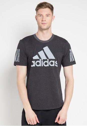 adidas black and multi adidas sport id logo tee 2A7EDAA3317023GS_1