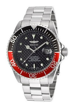 Pro Diver Men 43mm Silver Stainless Steel Black dial NH35A Automatic