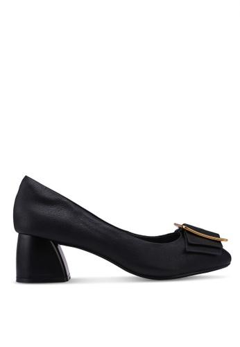 prettyFIT black Bows Kitten Block Heels BAA7DSH3E3A53BGS_1