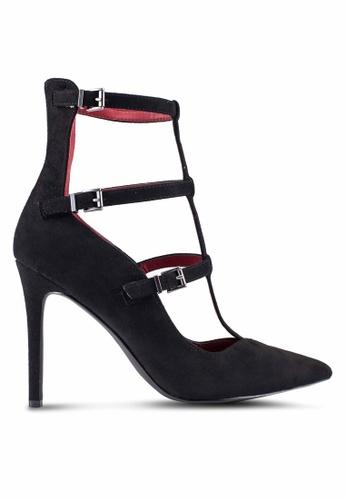 ZALORA 黑色 麂皮 高跟鞋 2339AZZE9B0211GS_1