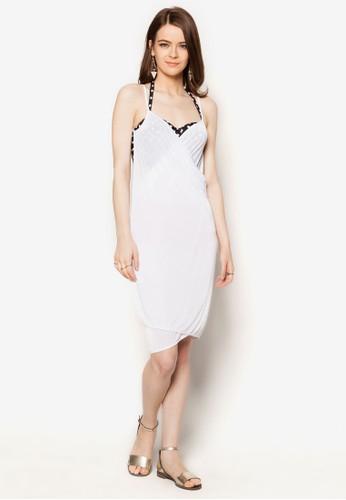 Mira 裹飾大挖背沙灘連身裙, 服飾, 泳裝及沙esprit 台中灘造型
