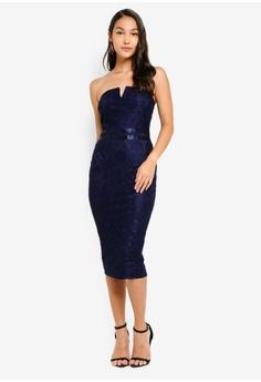 b753705ee7 49% OFF AX Paris Lace Notch Front Midi Dress S$ 80.90 NOW S$ 41.50 Sizes 8  10 12 14