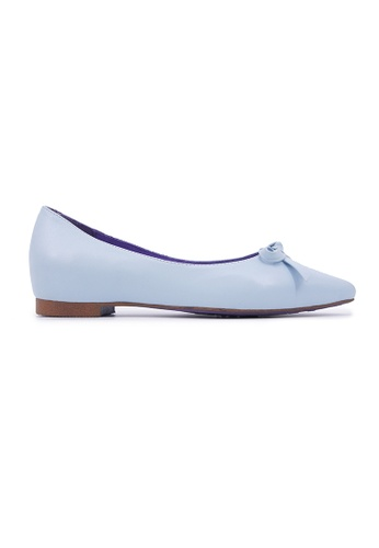 Flatss & Heelss by Rad Russel blue Pointy Flats with Ribbon - Blue 21C32SHEA26B90GS_1
