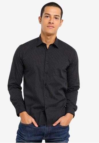 Electro Denim Lab black Printed Shirt 7AE1AAA50ED1F9GS_1
