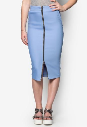 拉錬鉛筆zalora 台灣及膝裙, 服飾, 服飾