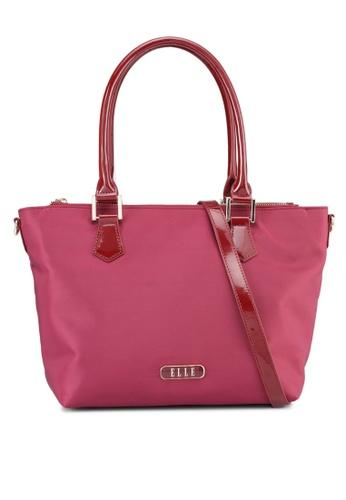 ELLE red Felisa Tote Bag 17032ACAF0E345GS_1