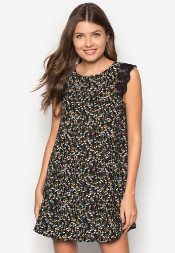 mango 手錶評價花卉圖案連身裙, 服飾, 洋裝