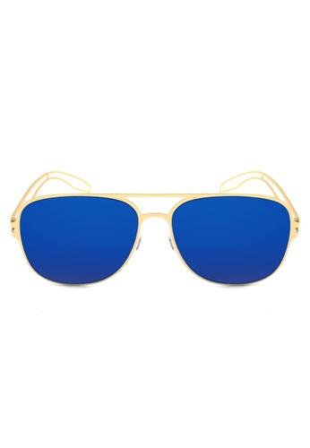 Maldives Eyewear blue and gold Derrick Rose Flat Lens Lightweight Frame Trendy Sunglasses 930-11-Y MA573GL32SYPPH_1