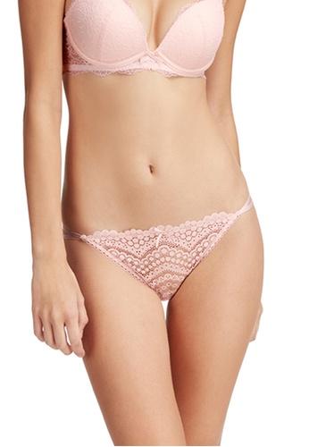 6IXTY8IGHT pink Jody Solid, Lace Low-rise Bikini Briefs PT09833 76AE9US11DE696GS_1