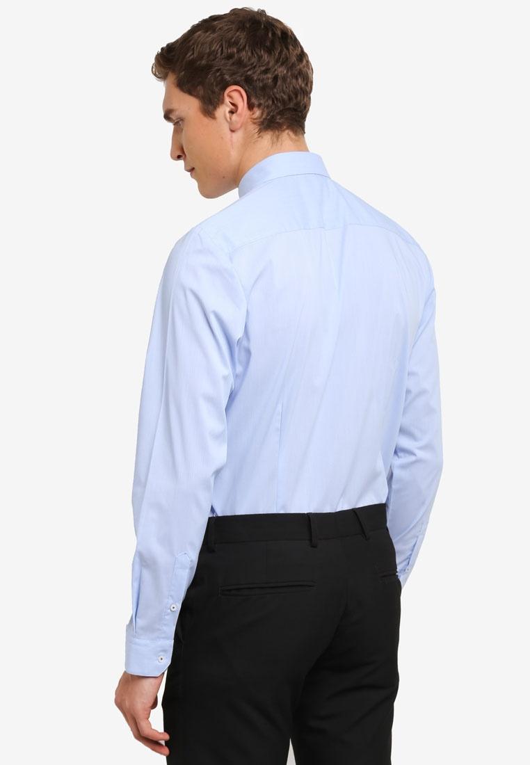 Blue Blue Menswear Shirt Formal London Burton Oxford Stripe Mid rWwvqS8rHc