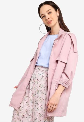 Something Borrowed 粉紅色 Patch Pocket Oversized Jacket 0F8B3AA3434BFCGS_1