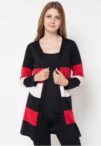 VOYANT BY MEGUMI multi Cardigan Ringgo 3 Colourfull Stripes VO505AA50QMBID_1
