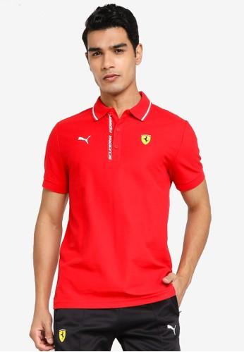 PUMA red Scuderia Ferrari Men's Polo Shirt FFD45AA051BDA8GS_1