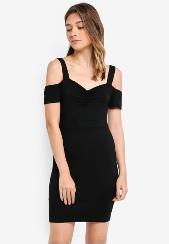 Something Borrowed black Knit Cold Shoulder Bodycon Dress 4C7C5AA10113C7GS_1