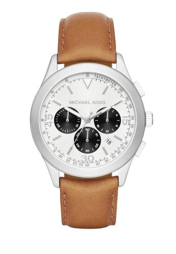 MICHAEL KORS brown Gareth Chronograph Watch MI248AC0K94XPH_1