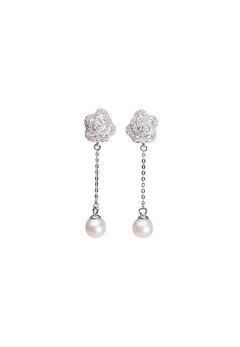 Pearly Lustre silver Pearly Lustre Elegant Freshwater Pearl Earrings WE00080 B1D8BACF996F62GS_1