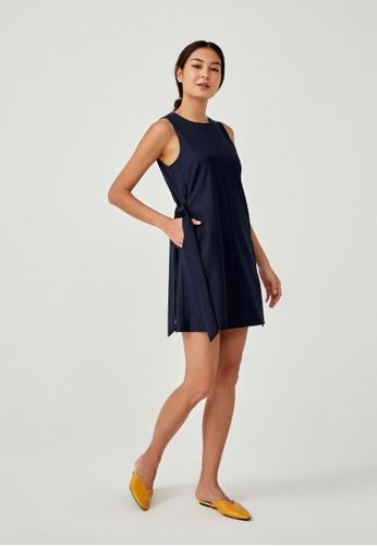 Love, Bonito blue Lamese Shift Dress F7D0EAA0DFD89BGS_1