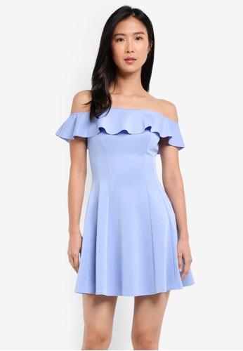Buy Miss Selfridge Bardot Flippy Dress Online on ZALORA Singapore dbb600bb4