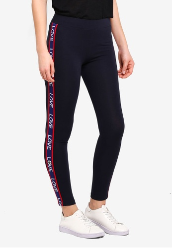 Dorothy Perkins navy Navy Tape Leggings 6EF6EAA43C630DGS_1