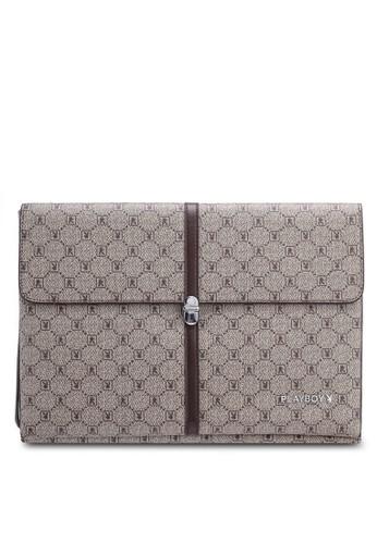 Playboy brown Playboy Clutch Bag BA120AC334FFE5GS_1