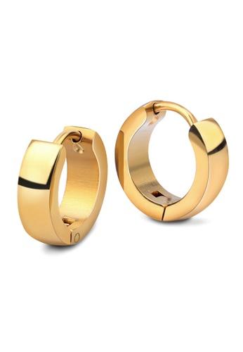 Elfi silver and gold Elfi Stainless Steel Gold Silver Hoop Earrings 8933BACD1D26DCGS_1