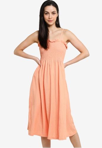 H&M orange Smock-Topped Dress B5C9BAAF66D04FGS_1