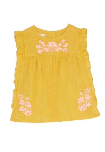 Du Pareil Au Même (DPAM) yellow Ruffle Blouse 1DCCFKAA6AD183GS_1