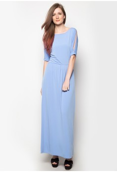 Venus Cut-Out Shoulder Maxi Dress