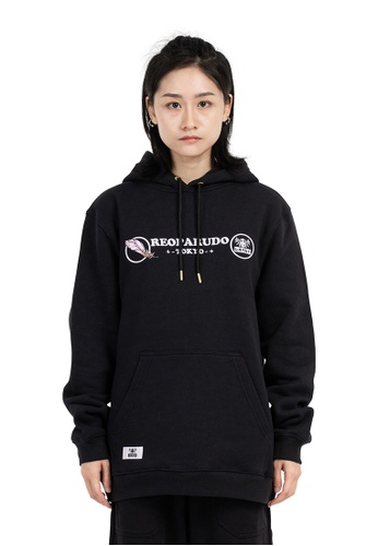 Reoparudo black Reoparudo Feather Embroidery Reflective Hoodie (Black) 245E0AAB6EBEC3GS_1
