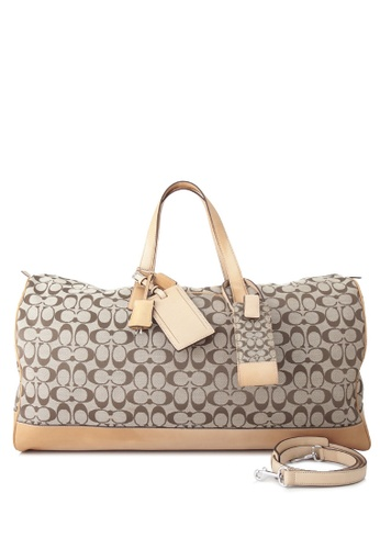 Coach beige Pre-Owned Coach Travel Duffle Bag 4AFD5AC189137CGS_1