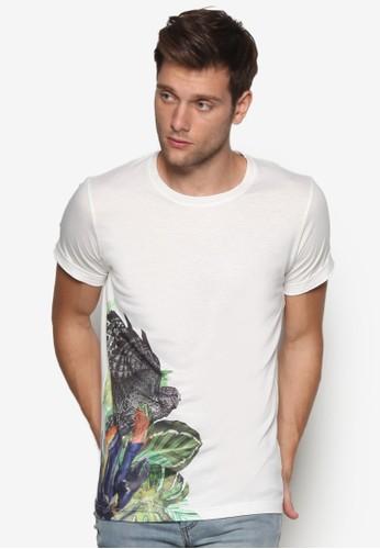 熱帶植物印花TEE, 服飾, 印圖Tesprit outlet 香港恤