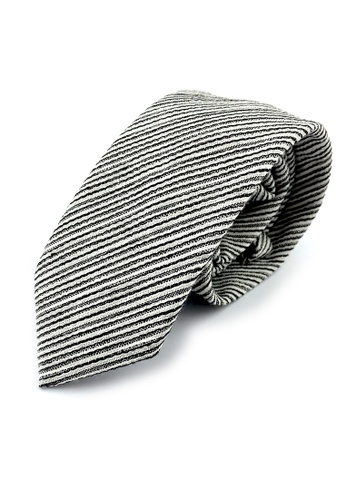 Caveman black Bengal Stripes Necktie E0718AC57434B2GS_1
