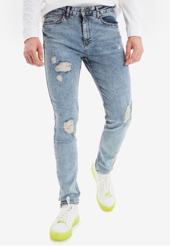 Trendyol blue Ripped Skinny Jeans 0E06EAA1F91EDAGS_1