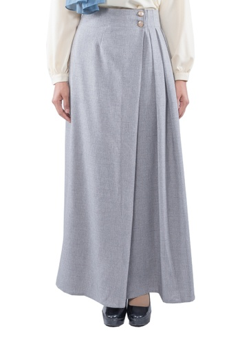 443d10200aee EDZ black and grey and brown Julie Pleated Cotton Linen Long Maxi Skirt  with Full Lining