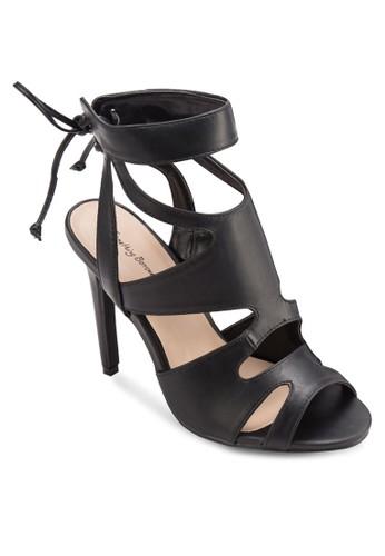 繫帶露趾羅馬高跟鞋, 女esprit 西裝鞋, 鞋