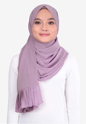 UMMA 粉紅色 褶飾雪紡絲巾 A1FF6AA83AACEDGS_1