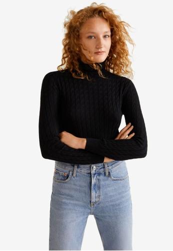 MANGO black Cable-Knit Sweater B9333AA138ACECGS_1