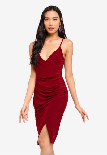 d01fe1e849a2 Buy MISSGUIDED Strappy Slinky Wrap Bodycon Dress Online on ZALORA Singapore