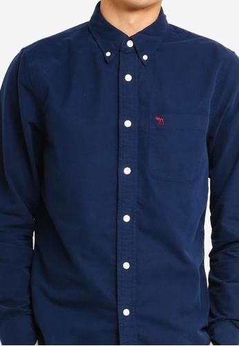 594621f27 Buy Abercrombie & Fitch Icon Oxford Shirt Online on ZALORA Singapore