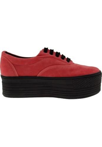 Maxstar red Maxstar Women's C50 5 Holes Platform Suede Low Top Sneakers US Women Size MA164SH62PRXSG_1
