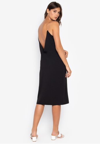 the___edit black Naomi Low Back Dress 81D04AAC15FC7EGS_1