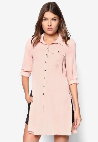 Petitezalora鞋 側開叉長版長袖襯衫, 服飾, 服飾