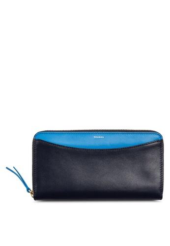 Skagen navy Skagen Continental Leather Zip Wallet SWS0219496 SK533AC32CGPMY_1