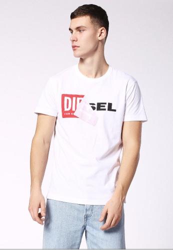 Diesel white T-Diego-Qa 218_1 Tshirt E03B0AAC24F7A2GS_1