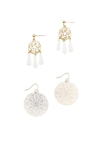 LUCCACAL gold 2 x Dainty Filigree Earrings Set 6DB2DACF1882AEGS_1