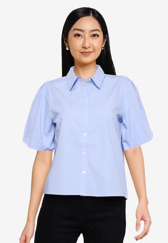 ONLY blue Bey Life Shirt 923DAAA1B0DD47GS_1
